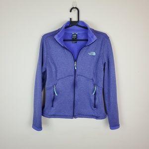 North Face Purple Zip Up Fleece Jacket    i19jkt